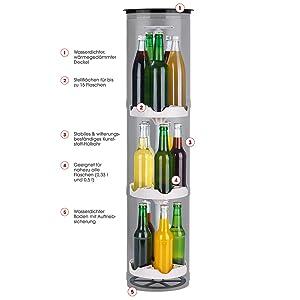 EASYmaxx 07787 Flaschenkühler Outdoor | Versenkbarer