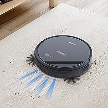 Ecovacs Deebot 601 - Robot Aspirador 4 en 1: barre, aspira, pasa mopa y friega, navegación inteligente, App, Wifi, 4 modos de limpieza, 2 niveles de ...