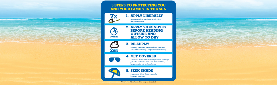 5 Steps to Stay Safe in the Sun