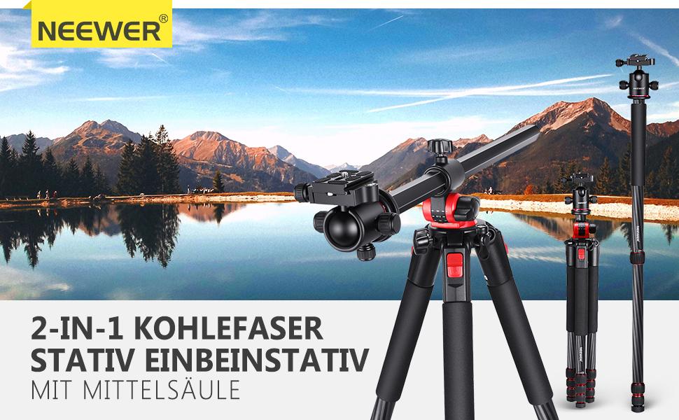 Neewer Kamera Stativ Einbeinstativ Kohlefaser Mit Kamera