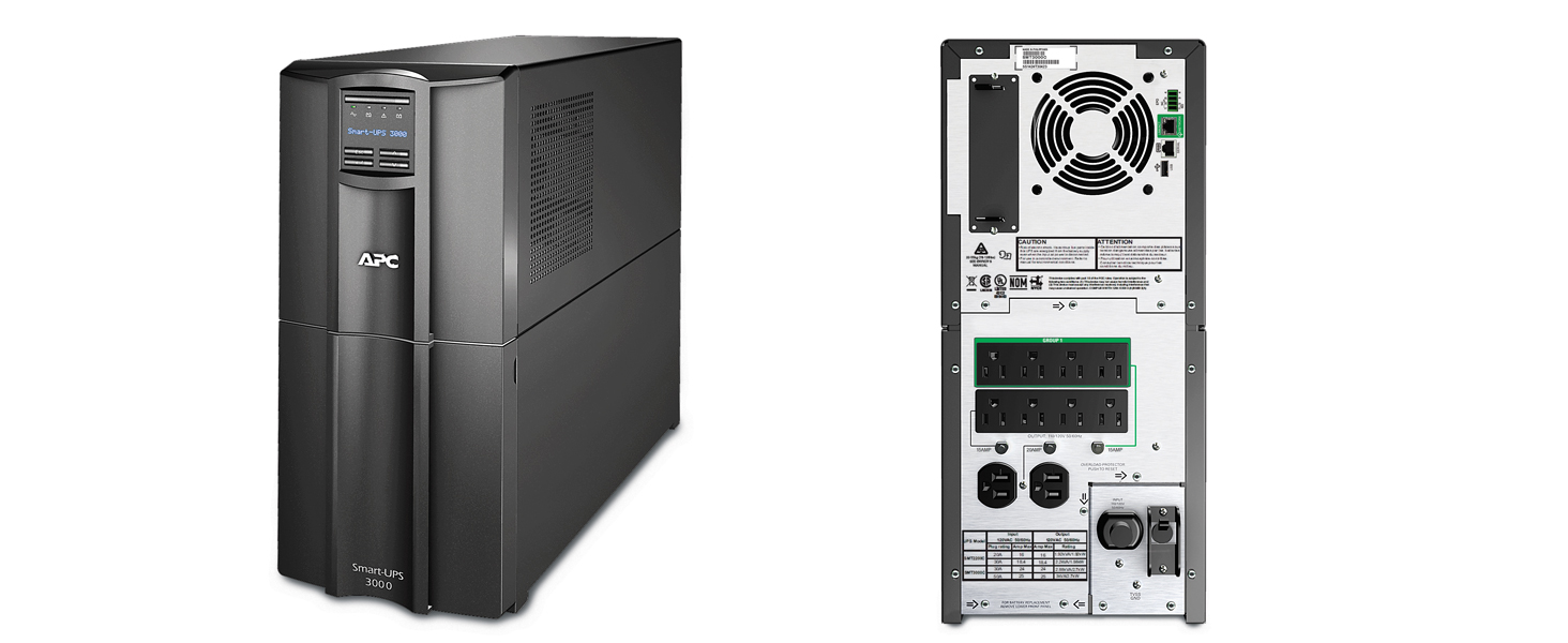 APC 3000VA Smart-UPS with SmartConnect, Pure Sinewave UPS Battery Backup,  Line Interactive, 120V Uninterruptible Power Supply (SMT3000C)