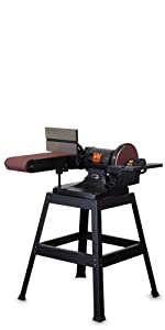 """WEN 6 x 48"""" Belt and 9"""" Disc Sander with Stand"""