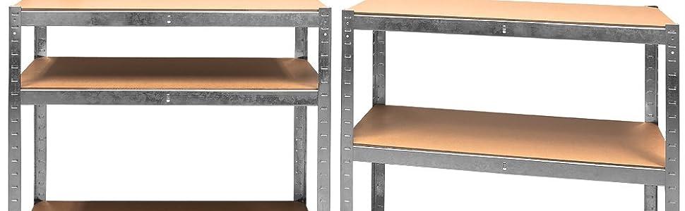 Set de 2 estanterías T-LoVendo, detalles.