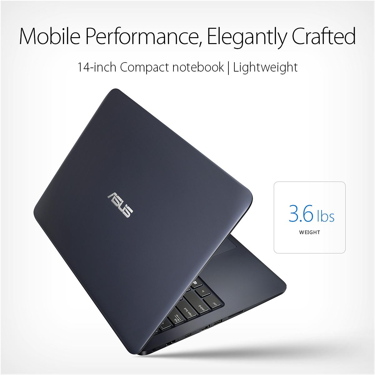 asus l402sa portable lightweight laptop pc intel dual core processor 4gb ram 32gb. Black Bedroom Furniture Sets. Home Design Ideas