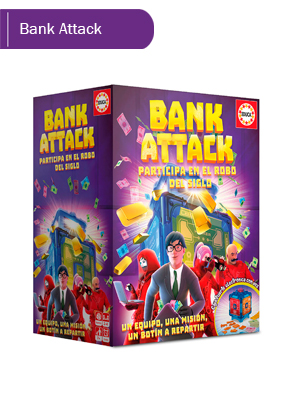 Educa Borrás-Bank Attack Juego de Mesa, Color versión ...