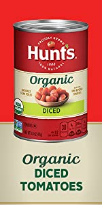 Canned Hunt's Organic Diced Tomatoes