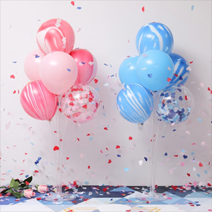 Amazon Com Table Balloon Stand Kit 4 Sets Reusable Clear