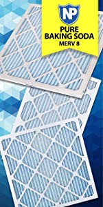 Nordic Pure, Air Filter, Filters, Air Conditioner, Pure Baking Soda, Odor Control