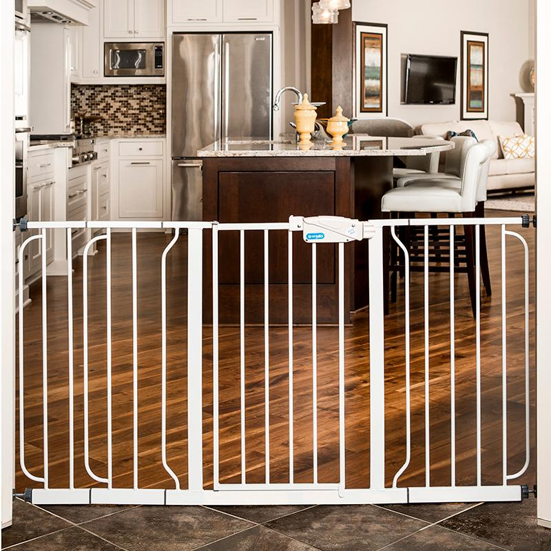 Regalo Extra Widespan Walk Through Safety Gate White