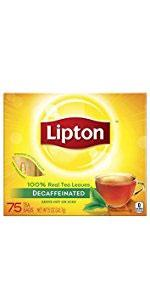 Lipton Black Tea Bags Decaffeinated 75 ct