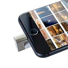 Unidad de Memoria Integral iShuttle USB 3.0 para iPhone/iPad (64 GB)