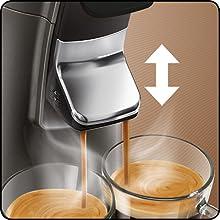 Höhenverstellbarer Kaffeauslauf