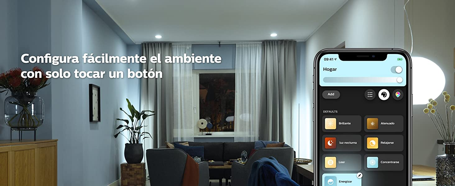 Philips Hue Bombilla led inteligente bluetooth luz blanca de calida a fria