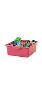 Iris Ohyama, set - 2 boîtes de rangement pour jouet avec couvercle - Smiley Kids Boxes
