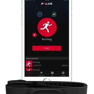 Polar ecoystem, hrm, heart rate monitor, polar hrm band, HR tracker, exercise tracker, exercise band