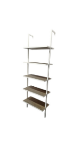 nathan james 65501 theo wood ladder bookcase rustic wood and metal rh amazon ca
