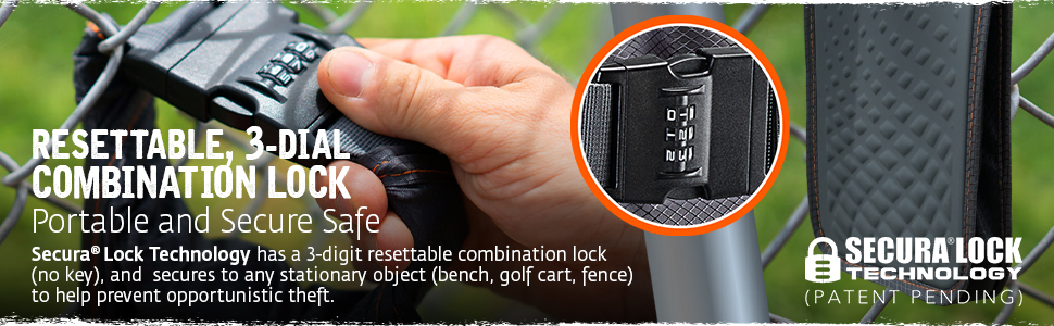 portable lock box safe with key combination bag with lock for valuables golf things beach bag school