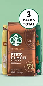 Amazon Exclusive Spring Bundle 3-Pack Ground Coffee