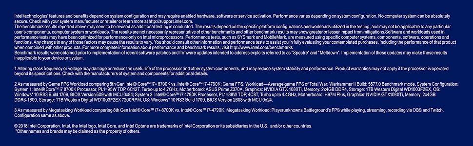 Unlocked 8th gen Intel Core i7-8700K desktop processor