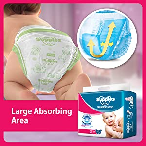 Supples Baby Pants Diapers, Small