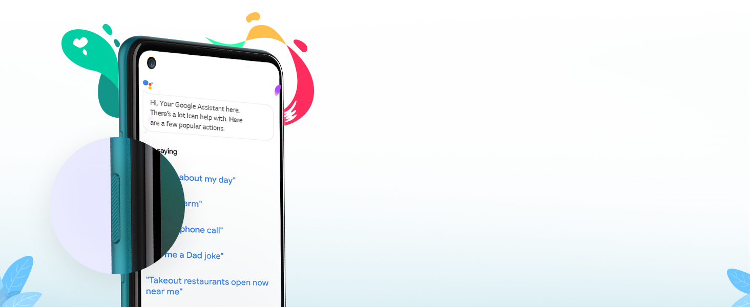 google assistant button