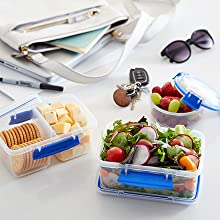 Sistema Klip It Portable containers let you take snacks and meals on the go.