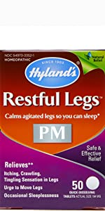 Amazon Com Restful Legs Tablets By Hyland S Natural