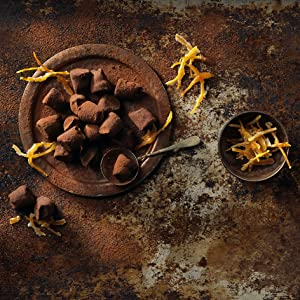 candied orange peel cocoa dusted truffles monty bojangles chocolate box luxury gift delicious