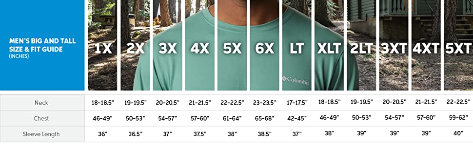 Men's big and tall shirt size and fit guide