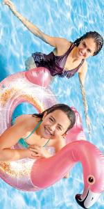 Intex Glitter Flamingo Pool Floating Tube