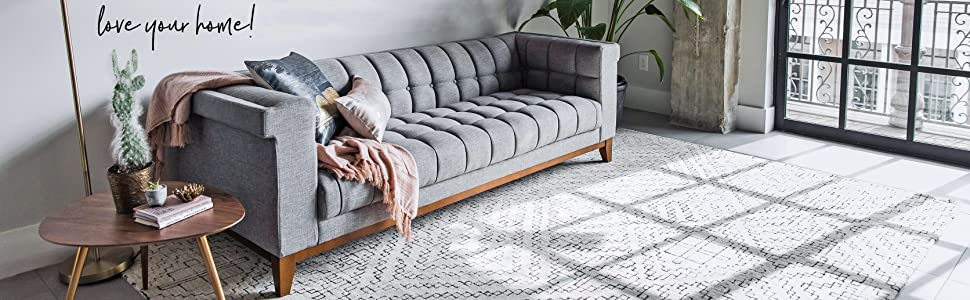 BRENT PARK MidCentury Modern Sofa - Mid-Century Chesterfield Sofas - Tufted Grey Fabric