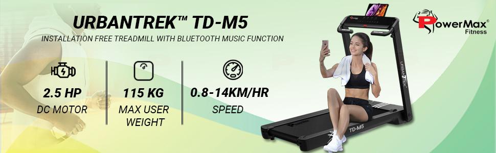 UrbanTrek TD-M5 Installation Free Treadmill