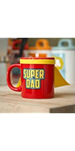 hero;mugs;cup;tasse;cuisine;family;collection;creative;cadeau;multicolore;héro;super;dad;père;papa