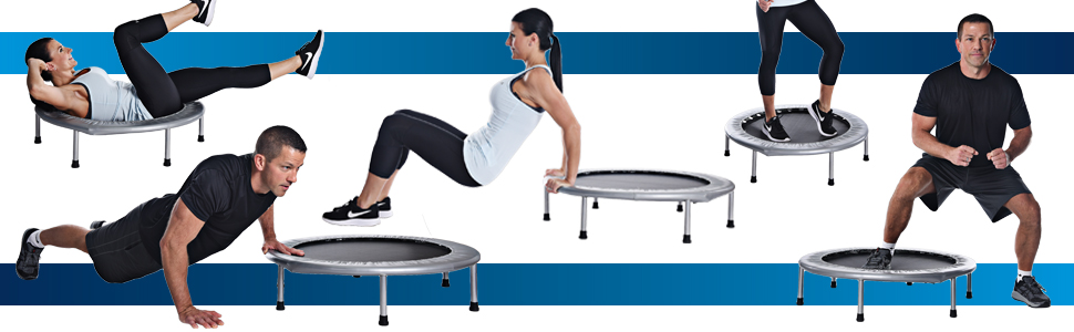 rebounding trampoline stamina folding surface bounce exercise fitness cardio home gym