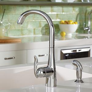 Moen Kitchen Faucet Lever Handle Comes Up