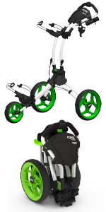 Rovic; Clicgear;3 wheel push cart;golf push cart;push-pull cart;golf trolley;golf bag cart;swivel