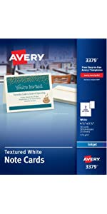 amazon com avery quarter fold card 4 25 x 5 5 matte 20