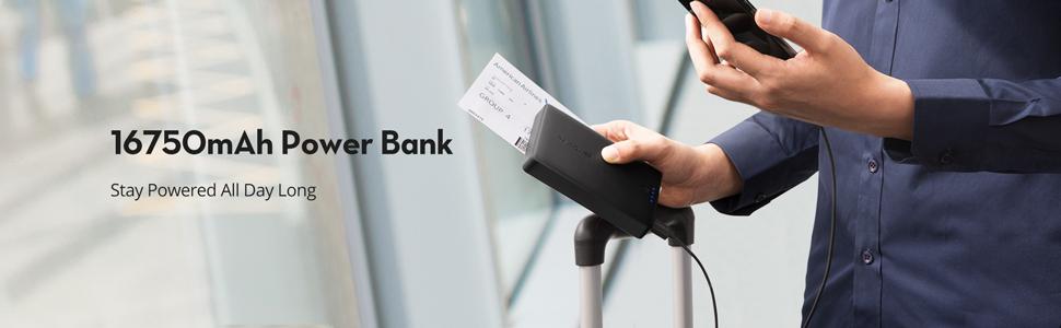 portable charger power bank 16750mah external battery pack usb battery portable usb charger phone Xs