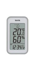タニタ Tanita TANITA 温湿度計 デジタル グレー TT-559 GY 壁掛け 卓上 マグネット