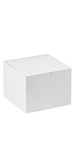 """8 x 8 x 6"""" White Gift Boxes"""
