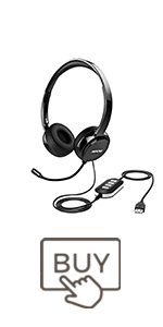 mpow 071 usb headset with microphone computer headphones with mic for pc with mute