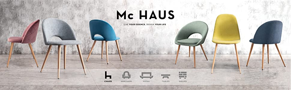 Mc Haus Blanca Adonis Silla Ergonómica Oficina Despacho Color, PVC, 63x32x65