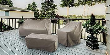 Amazon.com: Moderna funda para silla de patio, impermeable y ...