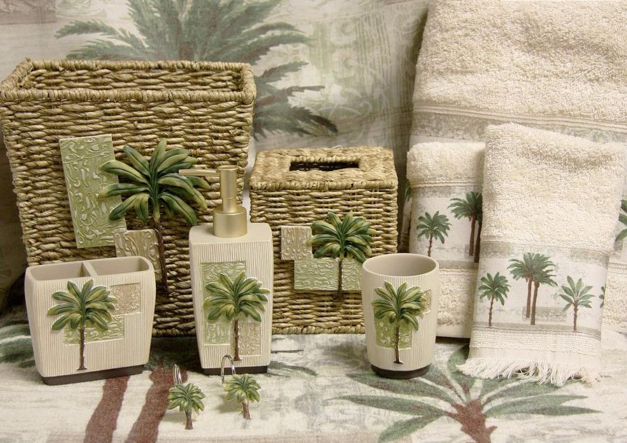 Bon The Citrus Palm Collection From Bacova Guild Will Inspire A Tropical Feel  To Your Bathrooms Decor. The Citrus Palm Accessories Are Made Of Carved  Resin Or ...