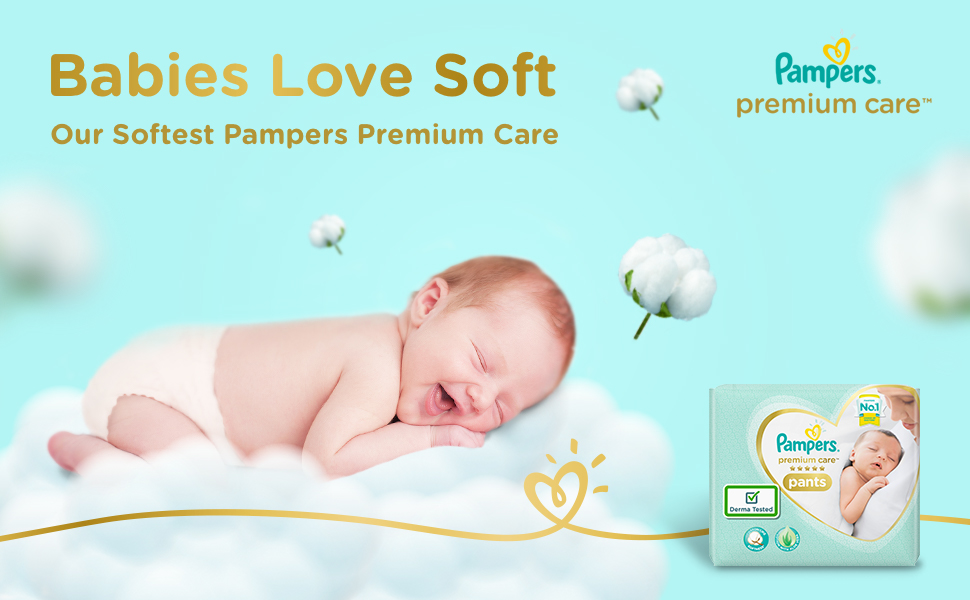 baby pampers diapers softness premium care