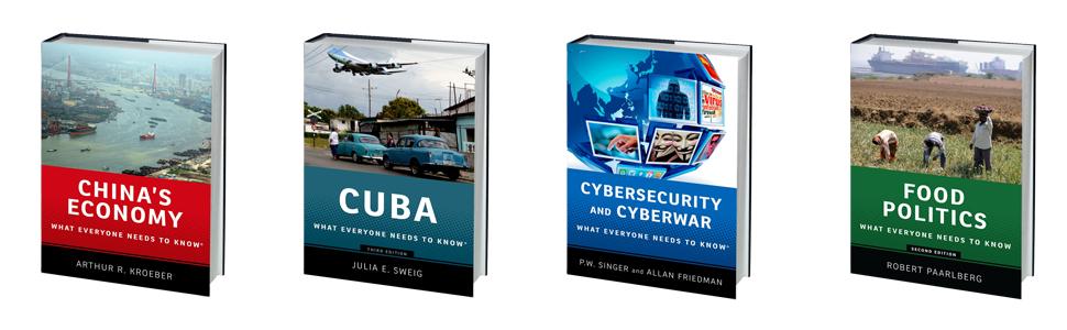 what everyone needs to know, china's economy, cuba, cybersecurity, cyberwar, food politics