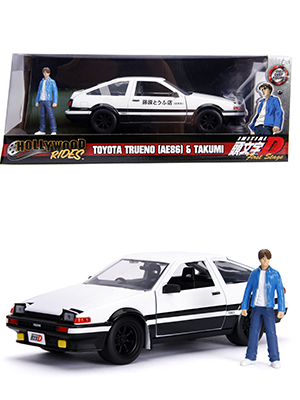 1:24 Toyota Trueno AE86 & Takumi Figure