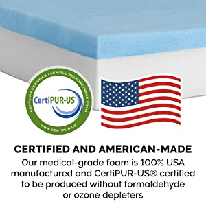safety; certification; foam; certipur; made in usa