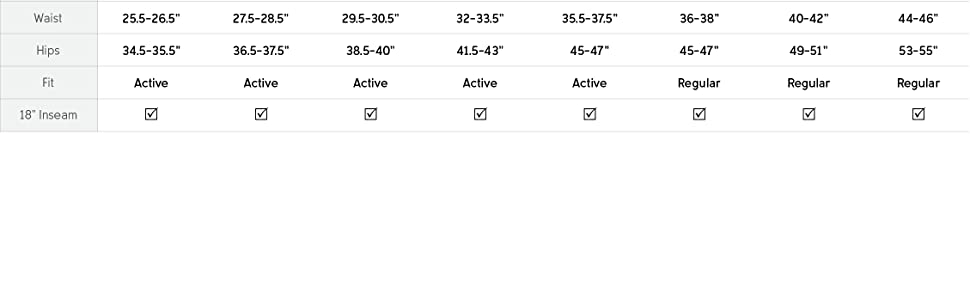 Women's capris size and fit guide