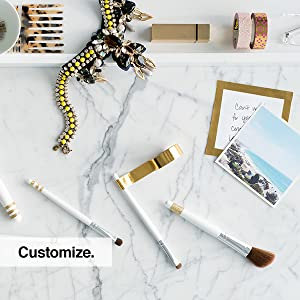 Scotch Expressions may be used to customize letters, pictures, decor, makeup brushes, jewelry, etc.